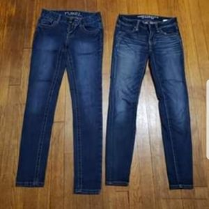 Juniors Size 0, 2 Pair Denim Jean Bundle